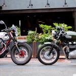 2013 Moto Guzzi V7 Racer vs 2013 Triumph Thruxton