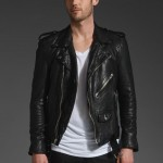 BLK DNM Motorcycle Leather Jacket 5 in Black