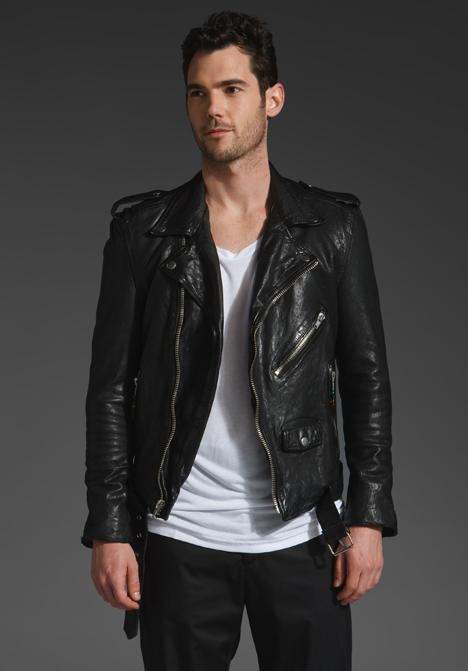 BLK DNM Motorcycle Leather Jacket 5 in Black at CPU Hunter - All