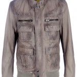 S W O R D distressed leather jacket
