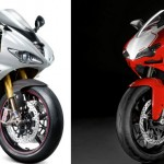 2012 Triumph Daytona 675R VS 2012 Ducati 848 EVO Corse SE (Video)
