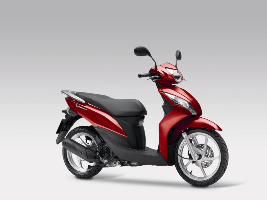 2014 Honda Vision 110 Pearl Siena Red at CPU Hunter - All Pictures and