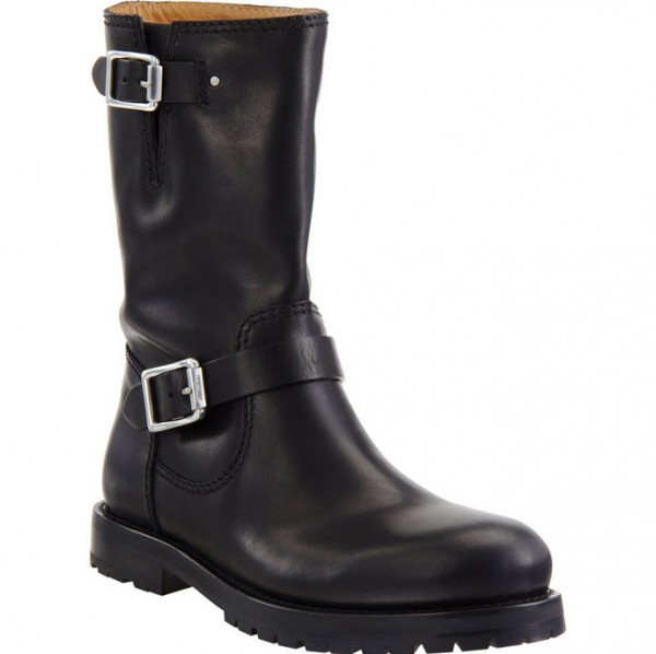 Jimmy Choo Black Leather Motorcycle Boot