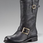 Jimmy Choo Women Biker Buckled Motorcycle Boot