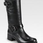Prada Leather Motorcycle Boot