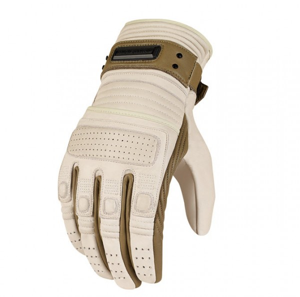 Bone Leather Beltway Motorcycle Glove by Icon 1000