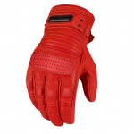 Red Leather Beltway Motorcycle Glove by Icon 1000