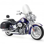 2014 Harley-Davidson CVO Softail Deluxe Candy Cobalt and White Gold Pearl