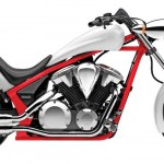 2014 Honda Fury White Red