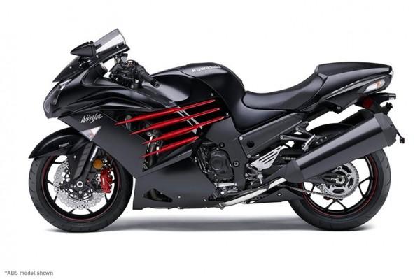 2014 Kawasaki Ninja ZX-14R Flat Ebony and Ebony_1