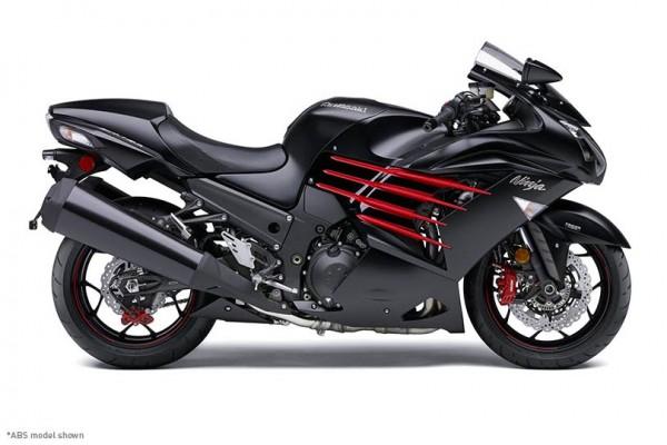 2014 Kawasaki Ninja ZX-14R Flat Ebony and Ebony_2