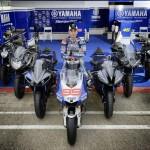 2014 Yamaha Race Blu Lineup wih Jorge Lorenzo