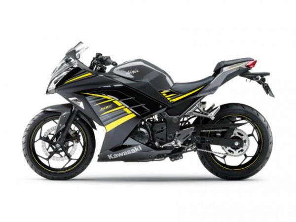 2015 Kawasaki Ninja 250 Metallic Moondust Gray Ebony with Yellow Stripe_1