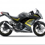 2015 Kawasaki Ninja 250 Metallic Moondust Gray Ebony with Yellow Stripe_2