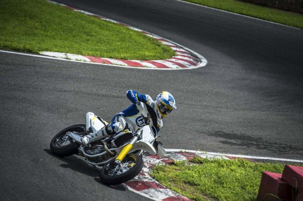 2015 Husqvarna FS 450 Supermoto In Action
