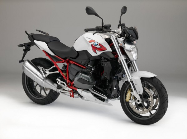 2015 BMW R1200R Light White Non-Metallic with Racing Red frame