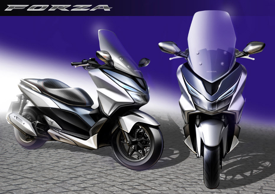 2015 honda forza 125 sketch at cpu hunter all pictures and news about motorcycles and. Black Bedroom Furniture Sets. Home Design Ideas