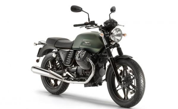 2015 Moto Guzzi V7 Stone Green Rosso Corposo
