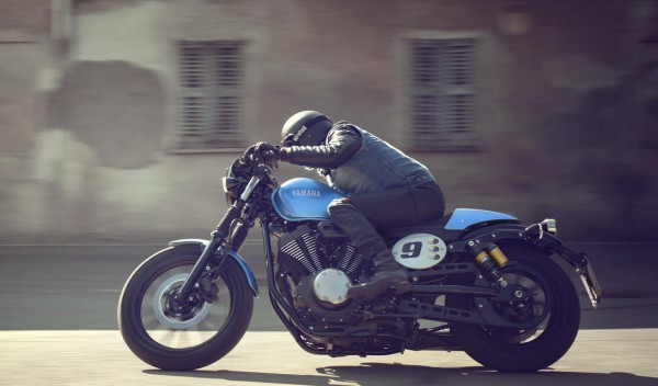 2015 Yamaha XV950 Racer in Action