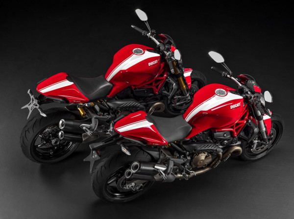 2015 Ducati Monster 1200S and Monster 821 Stripe Editions