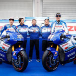 Team Suzuki Ecstar 30th Anniversary Blue and White Livery
