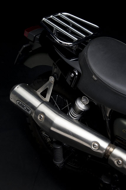 Triumph Scrambler Jurassic World Motorcycle Matte Green Detail