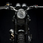 Triumph Scrambler Jurassic World Motorcycle Matte Green Headlight