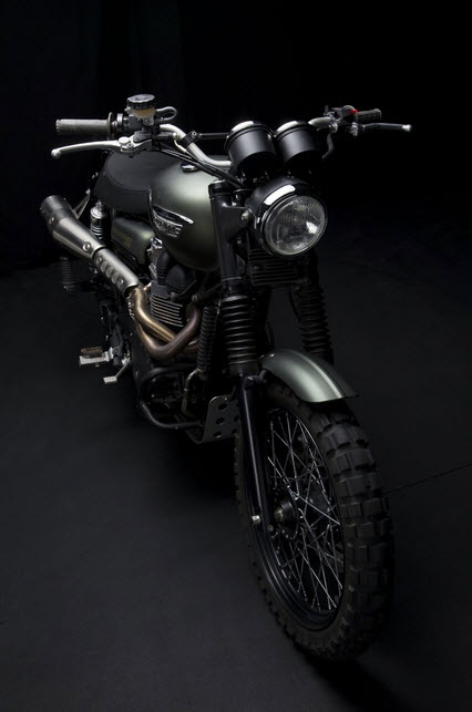 Triumph Scrambler Jurassic World Motorcycle Matte Green_10