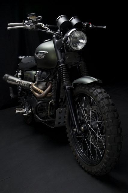 Triumph Scrambler Jurassic World Motorcycle Matte Green_9