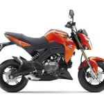 2016 Kawasaki Z125 Candy Burnt Orange