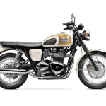 2016 Triumph Bonneville T100 Fusion White and Aurum Gold
