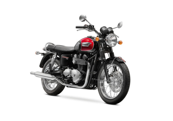 2016 Triumph Bonneville T100 Jet Black and Cranberry Red