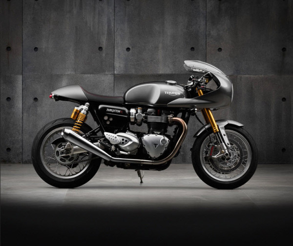 2016 Triumph Thruxton R with Windshield