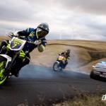 Motorcycle Drift: Triumph Speed Triple vs Ford Mustang Cobra (Video)