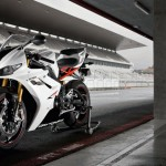 2012 Triumph Daytona 675R White