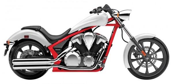 2014 Honda Fury White Red