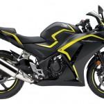 2015 Honda CBR300R USA-Specs Matte Black Metallic with Yellow Striping